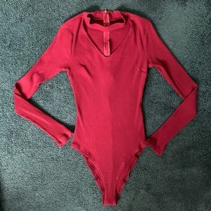 Red Long sleeve body suit!